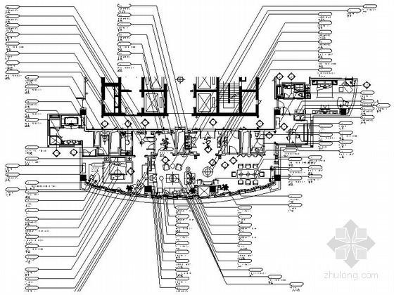某酒店公共空间及套房装修设计图