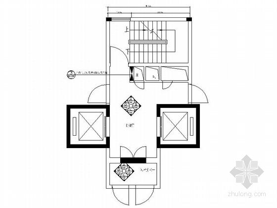 [广东]精品豪华住宅标准层电梯间竣工图