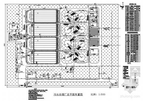 某污水处理厂平面图