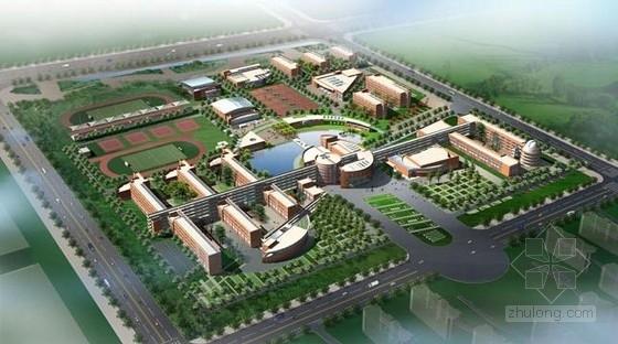 [山东]五层连廊式横线线条新建中学建筑设计方案文本