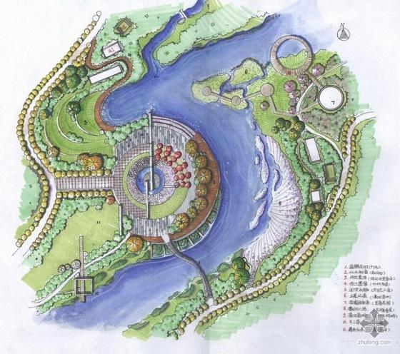 公园休息广场快题设计