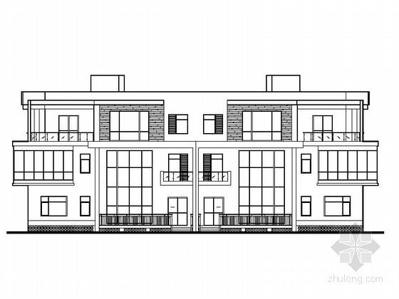 [唐山]某商务中心三层双拼别墅建筑扩初图(含效果图)