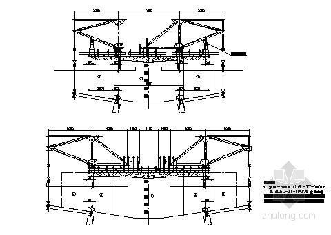 (40+64+40)m连续梁桥菱形桁架挂篮计算书及CAD图纸