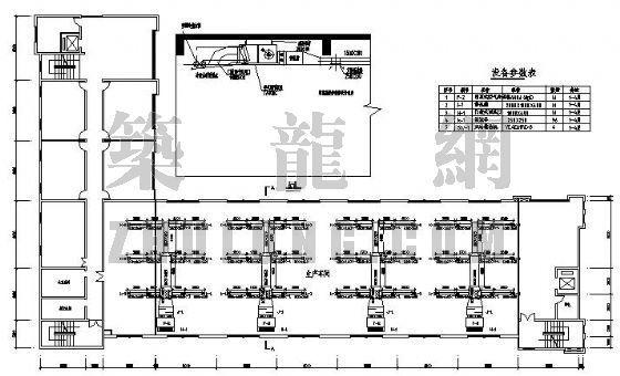 某服装厂生产车间空调设计图