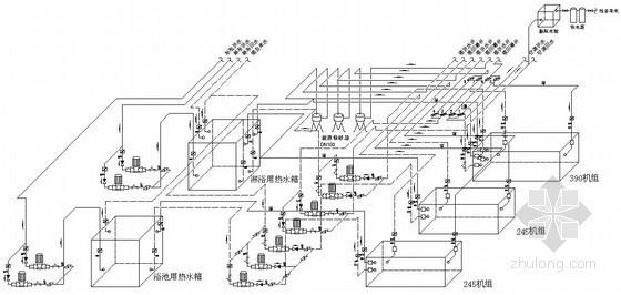洗浴中心空调机房课程设计图纸