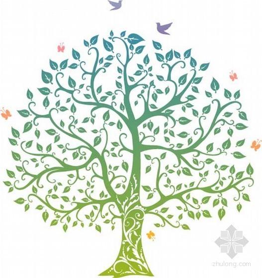 卡通手绘树造型装饰贴图