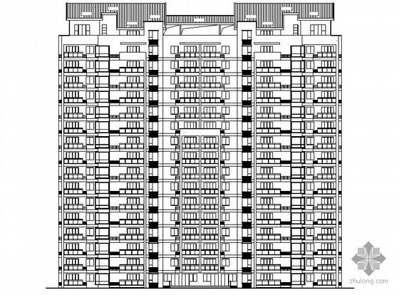 [温州]某拆迁安置项目4#十六层塔式住宅楼建筑施工图(一梯三户、顶层复式)