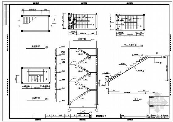 某底层架空住宅楼梯节点构造详图