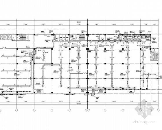 办公楼空调通风及自动喷淋灭火系统设计施工图