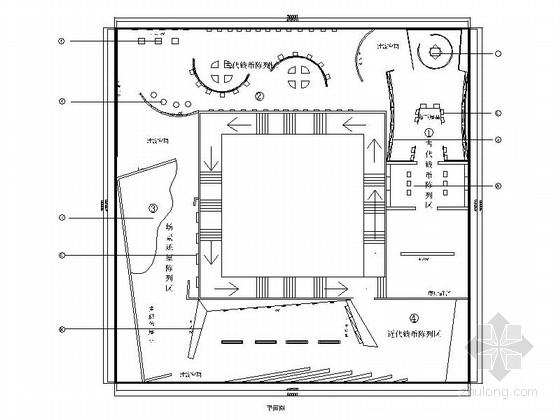 [北京]东二环现代风格专题博物馆室内设计方案图