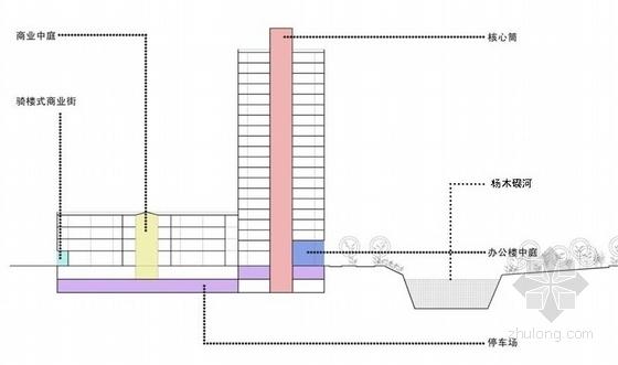 办公综合体剖面图