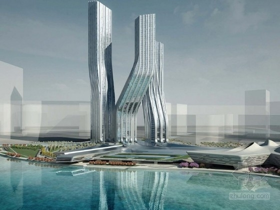 [国外]超高层商业中心建筑设计文本(全球知名女建筑设计师设计 含cad 附图丰富)