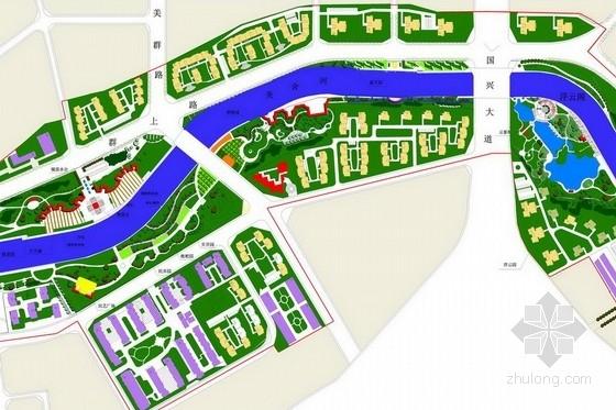 [海南]绿色风情滨水城市扩初设计方案(含节点施工图)