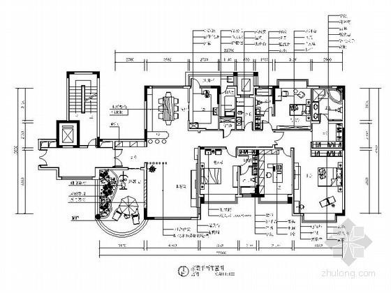 [湖南]现代超大四居家居设计装修图(含效果)