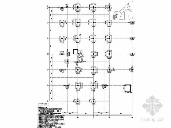 [河南]地上四层框架结构E区商业区结构施工图