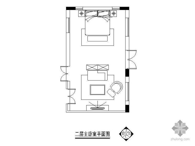 欧式主卧室装修详图