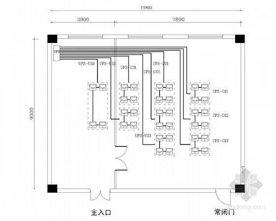 大学网络中心机房弱电系统施工图纸