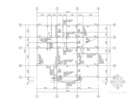 四层框架钢筋混凝土别墅结构施工图