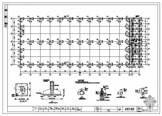 浙江某38米跨厂房结构图