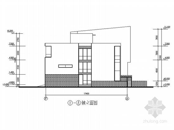 [上海]高档板式住宅楼建筑设计方案图-高档板式住宅楼建筑立面图