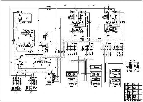 冷库制冷系统原理图