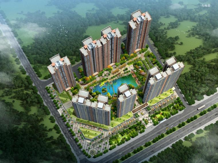 [广东]现代风格一梯两户高层住宅楼建筑设计方案文本