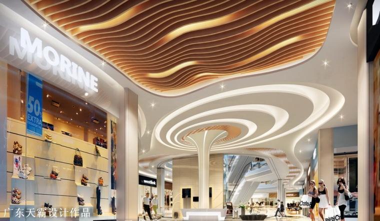 高清城市综合体设计效果图素材|室内效果图|外立面效果图