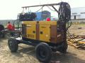 日本电王柴油发电电焊机石油石化管道现场施工图片