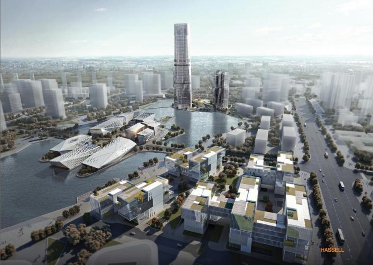 [天津]超高层筒装国际商务中心竞赛建筑设计方案文本