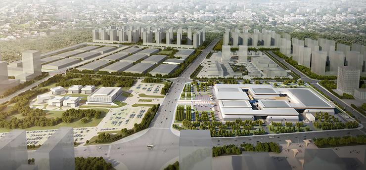 全国7大会展中心设计合集(实景图+效果图)-26-菏泽展览中心效果图