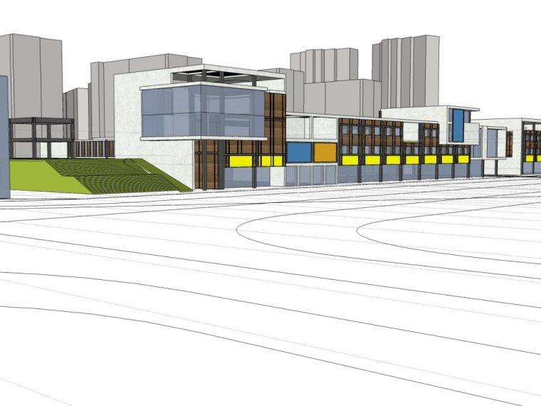 规划住宅现代高层平面立面总图skp+商业商业街平面立面总图-9107cd47b16ebf7a4daec095b8c76880