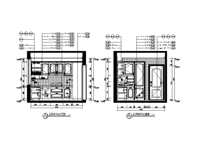 地中海别墅设计CAD施工图(含效果图、软装方案)_3