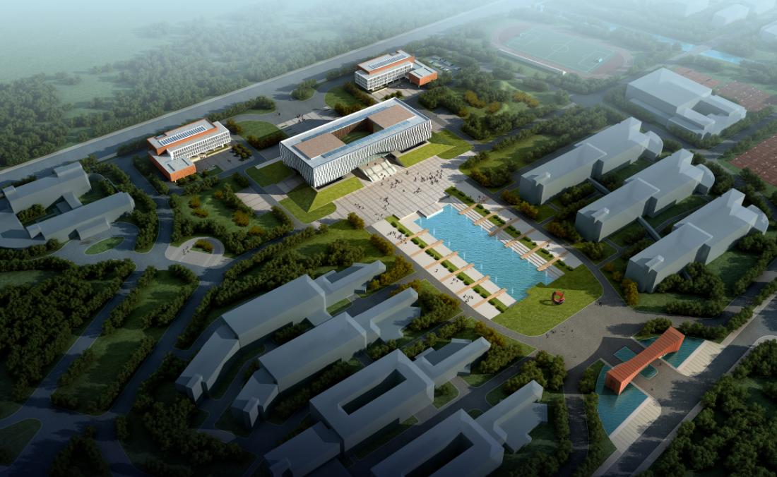 南京技术学院图书馆建筑方案文本+CAD