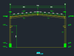 单层单跨门式钢架厂房结构施工图