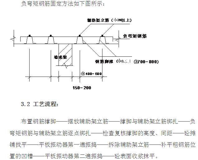 学校建设项目钢筋负筋保护层控制方案