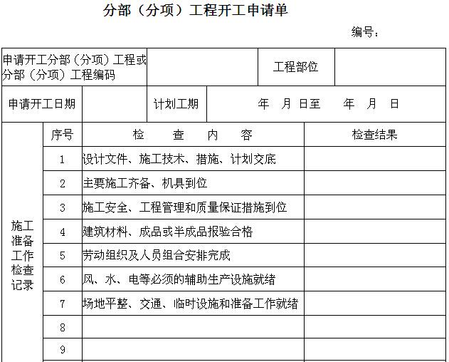 土地整理施工监理用表