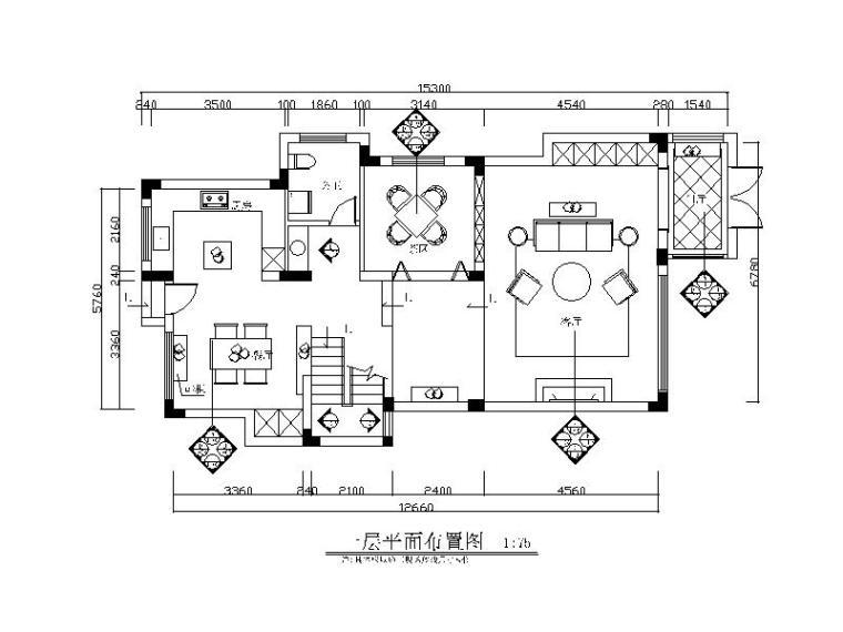简约复式楼样板房设计全套CAD施工图(含效果图)