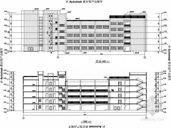 [教学楼]安徽四层框架结构图(含建筑图)