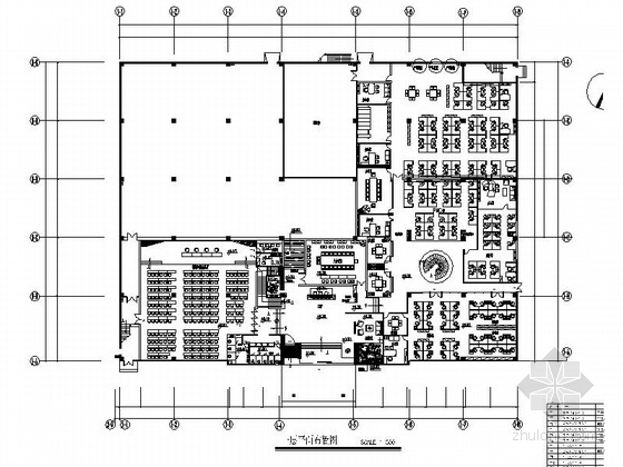 [广东]现代风格知名企业二层办公区室内装修施工图(含实景)