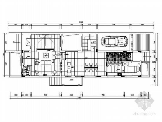 [深圳]名师设计现代风格三层别墅CAD装修图(含效果)