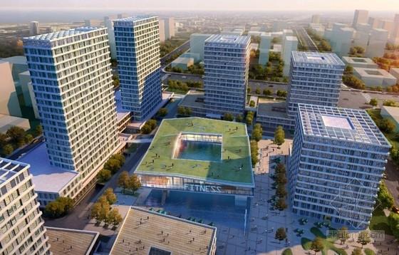 [上海]辐射组合型现代化商业及办公综合体设计方案文本-辐射组合型现代化商业及办公综合体设计效果图