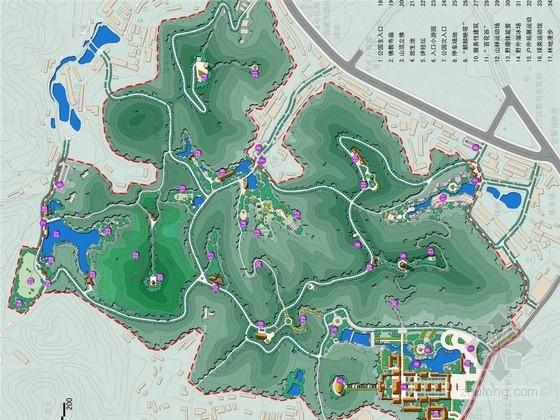 [广西]大型综合性生态文化公园修建性详细规划设计方案