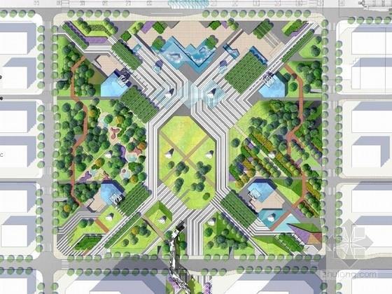 [重庆]城市商务休闲广场景观设计投标方案