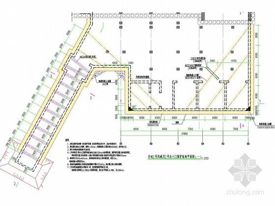 地铁车站风亭及出入口深基坑支护平面布置图