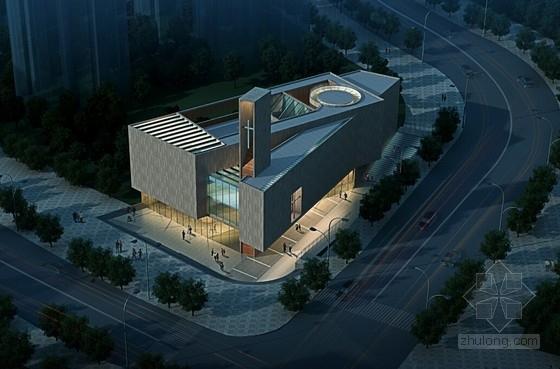 [内蒙古]4层石材基督教堂建筑设计方案文本(含SU)