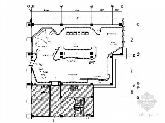 [江西]现代互联网展示体验中心及办公区室内设计CAD施工图(含全套方案)