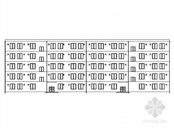 [陕西]五层框架结构单身公寓毕业课程设计方案图(含计算书等相关文件)