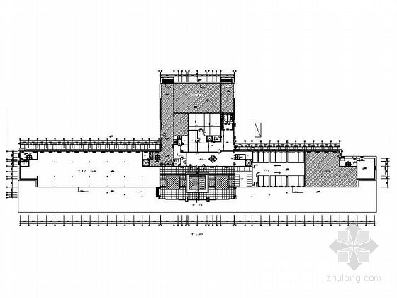[浙江]综合性开发区现代风格办公室CAD室内装修施工图