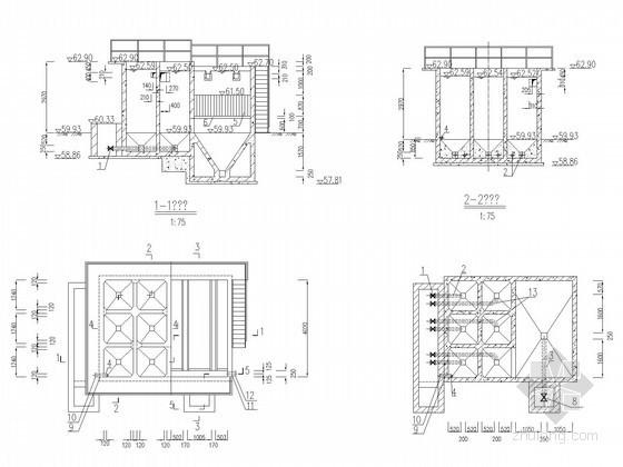 uasb工艺设计计算资料下载-自来水厂反应沉淀池工艺设计施工图