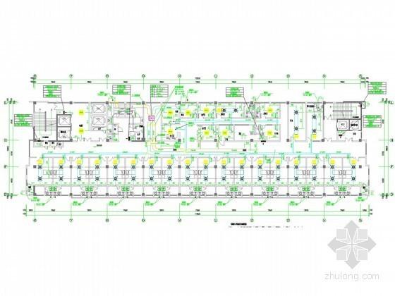 [安徽]高层医疗病房楼空调通风及防排烟系统设计施工图(洁净设计)
